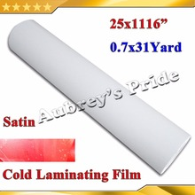 "NEW 25""X1Yards(0.635*28M) Satin Matt PVC Cold Laminating Film Bilayer Protect Photo for Cold Lamintor"