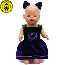 Baby Born Doll Clothes Ears and Tail Catwoman Dress Up Sets Doll Clothes Fit 43cm Zapf Doll Accessories Birthday Gifts T2(China)