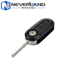 1pc Auto Key Shell Car Remote Case Keyless 3 Button New Replacement for Fiat Doblo Stilo Punto Ducato 500 Free Shipping D25
