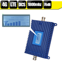 LCD Display DCS LTE 1800mhz Cell Phone Mobile Amplifier GSM 70dB Gain 4G 1800 Cellular Signal Booster LTE Repeater Set Repetidor
