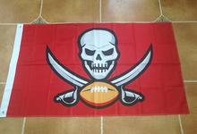 90x150cm Tampa Bay Buccaneers Flag Polyester 100D Digital printing Decorative Activity Banner(China)