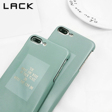 LACK Retro Art Letter Phone Case For iphone 7 Case Fashion Matcha Green Back Cover Hard Smooth Cases For iphone 7 Plus Capa(China)