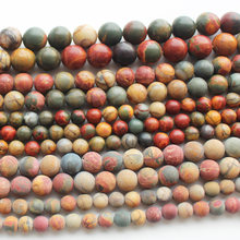 Natural Multi-Color Picasso Jaspe 4-12mm Round Beads 15inch , For DIY Jewelry Making !We provide mixed wholesale for all items!