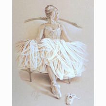 DIY 5D Diamond Mosaic Ballet White Shoes Handmade Diamond Painting, Cross Stitch Kits Resin Diamond Embroidery Pattern
