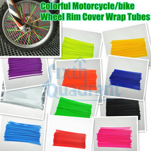 72pcs Colorful Motorcycle Wheel Rim Cover Spoke Skins Wrap Tubes Universal for Most of motorcycle/bike custom(China)