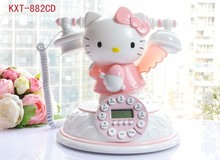 Hello kitty cartoon telephone for kids children home phone telefones para casa telefone fixo telephone fixe sans fil Telefonos