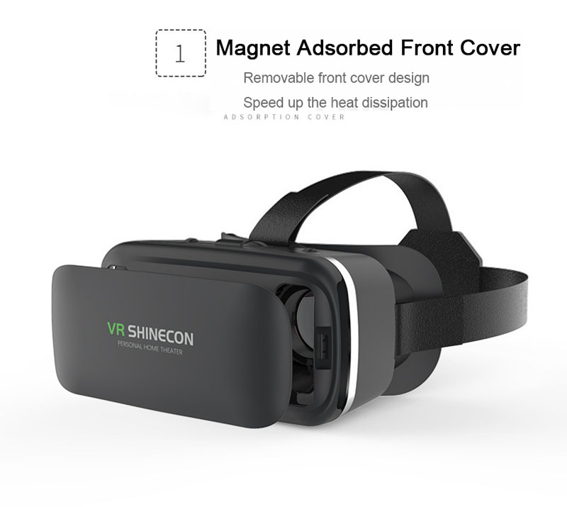 Original VR Shinecon 6.0 Virtual Reality 3D Glasses Cardboard VRBOX Helmet For 4.0-6.0 inch Smartphone With Wireless Controller 12