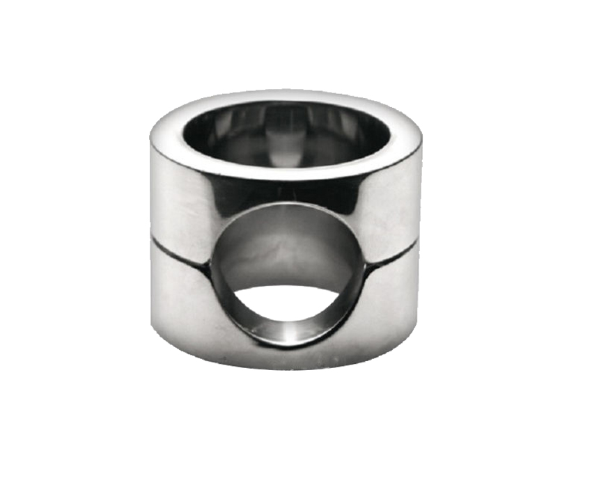 405g Stainless steel ball stretcher metal cock ring scrotum stretcher ball weight time delay ejaculation penis ring sex toys<br>