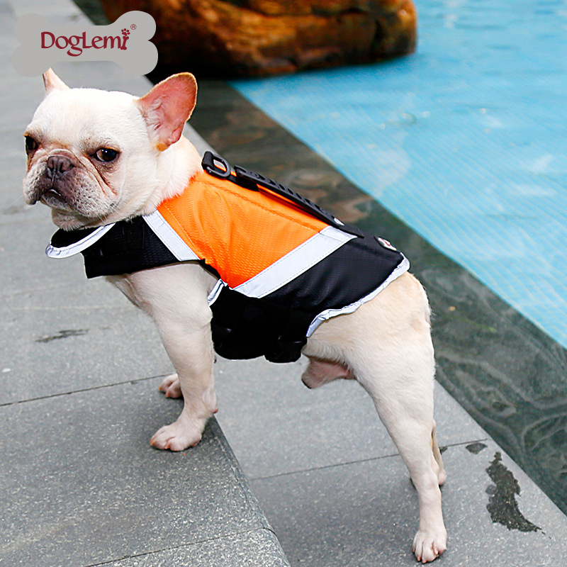 Dog Life Jacket Vest with Extra Padding for Dogs Reflecting Pets Dogs Swimming Clothes Waterproof Waistcoat Nylon Polyester(China)