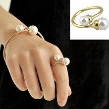 New 2014 Hot Sell Europe & America Personality Ring Women's Accessories Simple Pearls Ring