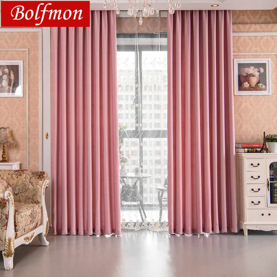 Latest modern solid pink shade window blackout curtains for kitchen living room the girls bedroom windows treatments rideaux