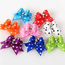2PCS Pet Supplies Products Handmade Dog Accessories Pet Hair Bows Dog Show Supplies Pet Hair Bows Rubber Bands Big Size Fashion