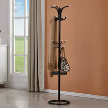 Metal Coatrack hanger with suction  floor bedroom simple hanging clothes rack creative iron storage rack