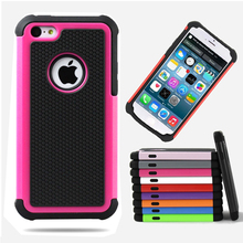 Phone Case For Apple iPhone 4 4S 5 5S SE 6 6S 7 Plus iPod Touch 4 5 Heavy Duty Hybrid Armor Hard Tough PC + Silicone Cover Bag