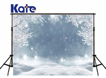 5x7ft Kate Frozen Winter Photography Backgrounds White Snow Photographic Background Ice Backgrounds For Photo Studio For Kids(China)