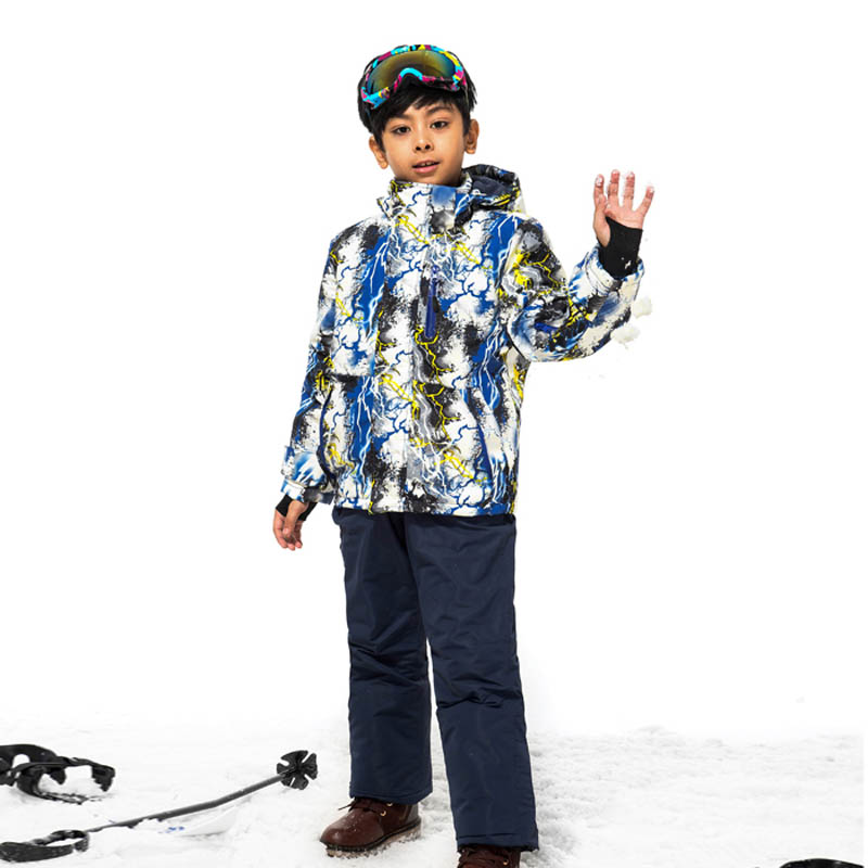 2017 Hot Winter Suit For The Boys Skiing Clothes Windproof Waterproof Jacket Pants Ski Suits Kids Snowboarding Tracksuit KLBS70<br><br>Aliexpress
