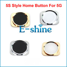 For iPhone 5 5G Metal Home Button 5S Like Style Replacement Return Key Keypad Repair Parts
