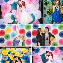 8/10/12inches Honeycomb Fan Paper Fan Hanging Wall Wedding Party Decorations