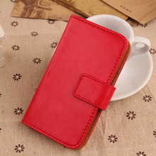 LINGWUZHE Pure Color PU Leather Cell Phone Pouch Book Style With Card Slot Case For MEDION LIFE X5020 MD 99367 MD 99462 5