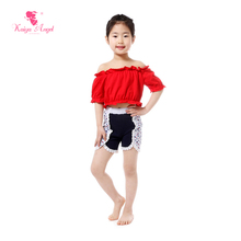 2017 Summer Boutique Kids Clothing Strapless Off the Shoulder Top Star Shorts Suits Patriotic 4th Of July Girl Outfit Clothes