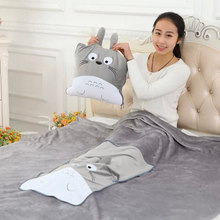 1*1.6M Totoro Volume Blanket, Plush Toys Adult Air Conditioning Blanket Coral Fleece Blanket Soft Towel Christmas Gift Doll