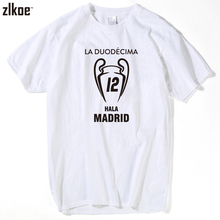 2017 real XII Champions League Winners 12 la Duodecima T shirt Short Sleeve Man casual for hala madrid ronaldo fans gift m-xxxl