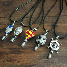 2016 New Arrival Movie Star Wars/Iron Man/Hulk/One Piece Necklace High Quality Fashion Whistle Necklace Wholesale 12pcs/lot