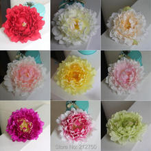 Quality Multicolors artificial real touch silk open peony head 10pcs/lot DIY flower arrangements wedding flower