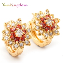 Yunkingdom Gorgeous flower earings hoop earrings for women earings women jewelry(China)