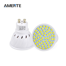 1Pcs Full Watt 6W 8W GU10 LED Bulb lamp Heat-resistant Body AC 220V 60LEDs 80LEDs Spot light 2835SMD For Indoor lighting