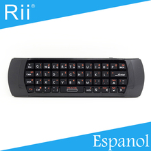 Free Shipping - Original Rii i25  2.4G Wireless Spanish(Espanol) Version Mini Keyboard/Air Mouse High Quality