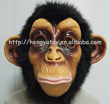 2013 Hot Selling Full head Awesome Gorilla Mask Impressive Costume Realisic Halloween props