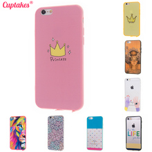 Phone Cases for iPhone 6 Case i6 Plus 5S SE Cover for Apple 7 5.5 Soft Silicone Pink Princess Transparent Brand Coque Original