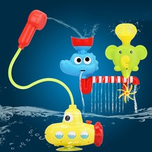 Lovely Portable Baby Bath Tub Water Spraying Toys Children Swimming Pool Toy Non Toxic Cartoon Faucet Submarine Shower Tool