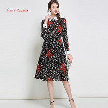 Fairy Dreams Womens Shirt Dress 2017 New Style Star Print Black Spring Summer Dresses Hot Sale Plus Size Clothing vestidos
