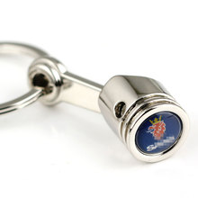 The simulation engine KeyChain Key Ring  / Auto emblem piston Key Chain Keyring freeshipping fits for Saab Car Styling