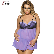 Comeondear Fashion Style Four Color Solid Lingerie Sexy Lace Hot Sale Sexy Plus Size Women Dot RP80072 Babydoll Women Clothing