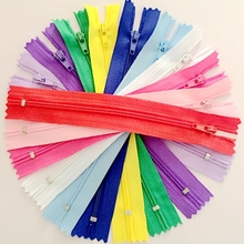 100pcs 15/20/25/30cm 3# Colorful Closed End Nylon Coil Zippers Tailor Sewing Craft