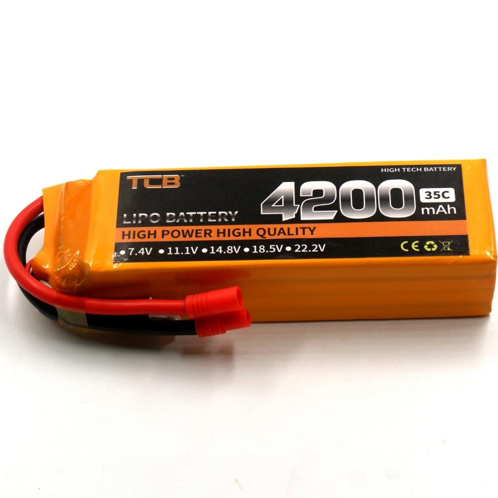 TCB RC Drone lipo battery 14.8v 4200mAh 35C 4s FOR RC airplane verticraft car cell akku 4s rc li-poly batteria<br>
