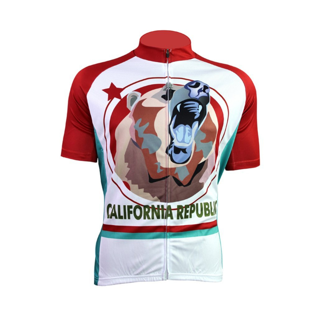 2017 men youth cycling jersey pro team mtb bear jersey de la ropa ciclismo cycling clothing white maillot ciclismo bicycle wear(China (Mainland))