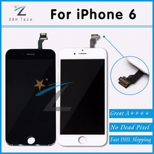 10PCS/LOT Mobile Phone Parts For Pantalla iPhone 6 LCD Touch Screen AAA For iPhone 6 LCD Display Replacement Free DHL Shipping(China)