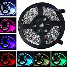 0.5/1/2/3/4/5M LED Strip Light 5050 SMD RGB Led Tape Not waterproof Led Stripe Bar Light String Holiday Decoration Lights DC12V(China)