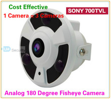 Lihmsek Sony 700TVL CCTV Fisheye Panoramic Vandalproof camera 180 Degree Wide Angle camera with 3pcs Array IR leds free shipping(China)