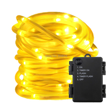3AA Battery Powered 5Mode Timer 5M 10M LED Fairy String Lights, Waterproof PVC Wire Christmas Tree Halloween Lights