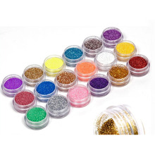 18 Colors Nail Art Glitter Powder Dust Decoration kit For Acrylic Tips UV Gel DIY Drop Shipping Wholesale Nail Glitter(China)