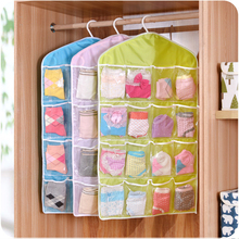 1pcs storage bag polyster PE toys box bags clothes socks organizer washable clothing hanging bag makeup organizer sundries box