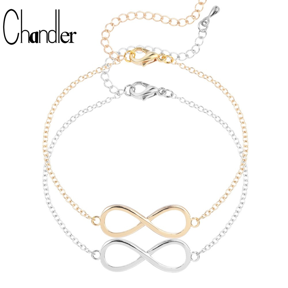 Chandler 8 Number Lucky Friendship Bracelet Infinity Love Bracelets Couples Braided Cuff Pulsera Couple Adjustable Jewelry Gift