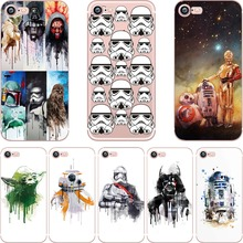 ciciber Star Wars R2D2 BB8 Coffee Stormtrooper Darth Vader clear soft silicon TPU case cover for iPhone 6 6S 7 8 plus SE 5S X(China)