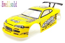 Ewellsold 1:10 remove control car 1/10 rc drift car parts body shell henglong190mm NO:011Y free shipping(China)