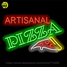 Neon Sign Artisanal Pizza Neon Light Sign Bakery cool neon signs Arcade handcrafted Real Glass Tube Publicidad Neon Lights 30x18(China)